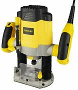 Stanley 1200w 55mm Variable Speed Plunge Router 220v Srr1200 Indian Type Plug