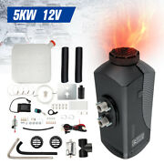 12v 5kw 15l Lcd Screen Remote Air Diesel Parking Fuel Heater Control Silencer Us