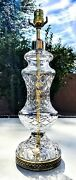 Waterford Lismore Cut Fine Irish Crystal Table Lamp And Large Matching Shade