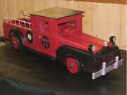 Hand Made Vintage Wooden Toy Truck  8 Bevier Mo 31 Long