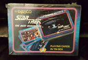 Star Trek The Next Generation - 1992 Playing Cards In Tin Box By Enesco Free Sh