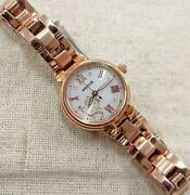 Citizen Wicca Eco-drive Womenand039s Wristwatch Hello Kitty Collaboration Used 1620mn