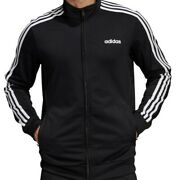 Menand039s Adidas Full Zip Long Sleeve 3 Stripe Essentials Tricot Track Jacket