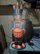 32 Vintage Fiber Optic Christmas Yard Toy Soldier Blow Mold