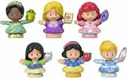 Fisher-price Disney Princess Gift Set By Little People 6 Character Figures For