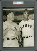 1961 Type 1 Photo Mickey Mantle Willie Mays 1961 All Star Game Psa Authentic