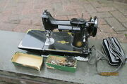 1951 Singer 221 Featherweight Sewing Machine W Accessories And Foot Switch No Case