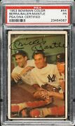 Mickey Mantle Signed/autographed 1953 Bowman Color Card 44 Psa/dna 163969