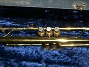 Vintage Brass Besson 2-20 Trumpet With Case, 7c Mouthpiece And Music Stand Unteste