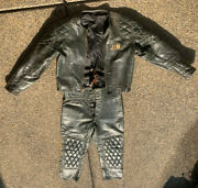 Langlitz Leathers 1960's Motorcycle Racing Leathers Very Rare Green Cow And Horse