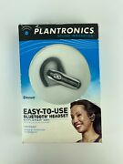 Plantronics Explorer 320 Bluetooth Headset With Charger And Manual