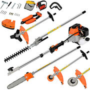 52cc 2 Cycle 5 In 1 Gas Pole Saw Brush Cutter Gas Hedge Trimmer For Tree Weed