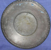 Vintage Meadowbrook Wm A Rogers Floral Silver Plated Serving Plate Tray