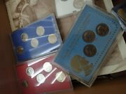 Lot Of Misc Clad Collectible Coins And Medals Us 1 And 5 Silver Certificates Misc