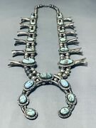 Red Mountain Turquoise Vintage Navajo Sterling Silver Squash Blossom Necklace