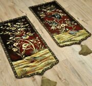 Flower And Birds Tapestry Wall Hanging Large Vintage Artificial Jacquard Home Deco