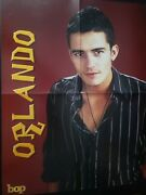 Giant Magazine Poster Orlando Bloom And Britney Spears Oop Rare