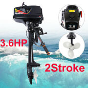 3.6hp Gasoline Powered Outboard Motor Fishing Boat Engine Cdi System 2-stroke