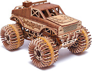Wood Trick Monster Pickup Truck Car 3d Wooden Puzzle - Rides Up To 18 Feet - 8.3