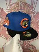 """Exclusive Fitted Chicago Cubs """"2016 Ws"""" Black Corduroy Brim/pink Uv Size 7 1/2"""
