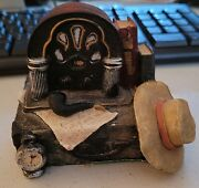 Dad's Old Radio, Hat, Pipe And Books Vintage Collectible