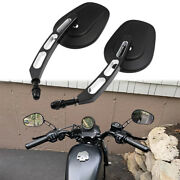 Black Motorcycle Mirrors For Harley Davidson Electra Glide Ultra Limited Fatboy