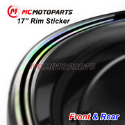 Black J09 17 Rim Decals Holographic Stickers For Sv1000 S 2003-2007 07 06 05 04