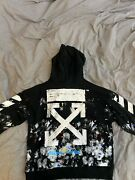 Off White Galaxy Brushed Pullover Hoodie Medium