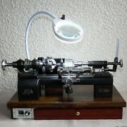 Watchmaker Tool-room Pultra Lathe Model-p 16 Bed 10mm Headstock