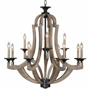 Craftmade 35112 Pine Winton 12-light 36w Taper Candle Chandelier