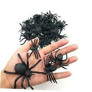 46pcs Realistic Plastic Spider Toys Fake Spider Prank Prop Joke Spiders And