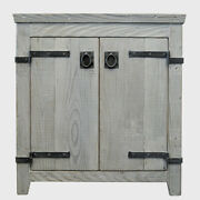 Native Trails Vnb30 Driftwood Americana 30 Wooden Vanity Cabinet Only