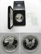 1997 P Proof American Silver Eagle Dollar In Us Mint Box With Coa