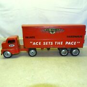 Vintage Tonka Ace Hardware Paints Store Semi Truck + Trailer 1950and039s