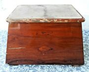 Vintage Murray Brothers Teak Step Box For Boat As Is As Found No Returns