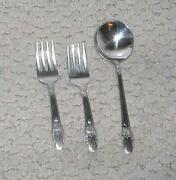 Baby's First Love 2 Fork And Spoon Set, 1847 Rogers Bros International Silver P
