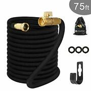 Garden Hose 75 Feet Upgraded Expandable Water Pipe With Double Latex Core,