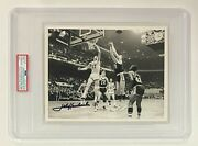 1960and039s Jerry West And John Havlick Signed Type 1 News Service 8x10 Photo Psa/dna