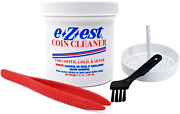 E-z-est Ezest Easy Coin Cleaner Copper Gold Silver Jewelry With Basket Tweezers