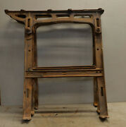 3 Antique Adjustable Drafting Farm Table Desk Legs Cast Iron Collectible Lot