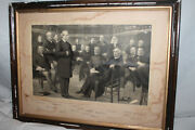 Canada Engraving Signed Prime Minister John A Mcdonald Conservative Party 1800s
