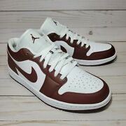 Womens Air Jordan 1 Low Team Red/bronze Eclipse Dc0774-116 Sizes 5 9 And 11.5