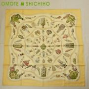 Hermes Silk Scarf 90cm Kare 90 Quand039 Importe Le Flacon Perfume Yellow Women And039s