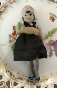 Antique Bisque Jointed Doll Dollhouse Maid German Miniature Hertwig