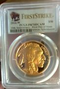 2016 W Gold Buffalo Pcgs Pr70dcam First Day Of Issue