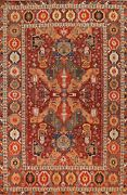Vegetable Dye Ziegler Geometric Oriental Area Rug Hand-knotted Living Room 9x12