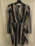 Justify Hacci Wrap Dress Medium Multi Stripe Med And Large Available Nwot