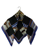 Secondhand Hermes Scarf/silk/blue/commedescarres/coaching Clothing And