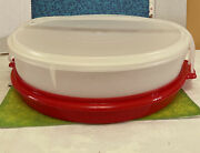 Vintage 12 Sheer Tupperware Lid And Two Takers, Cake, Pie Carrier/taker