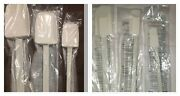 Nip Pampered Chef Lot Of 6- Complete White Scrapers Set - Free Shipping